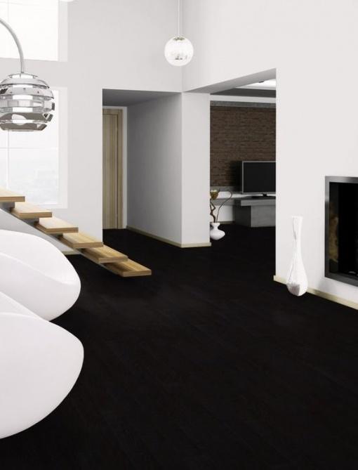 Naravne vinilne talne obloge Pure Black - vinil Wineo 1500 Wood XS