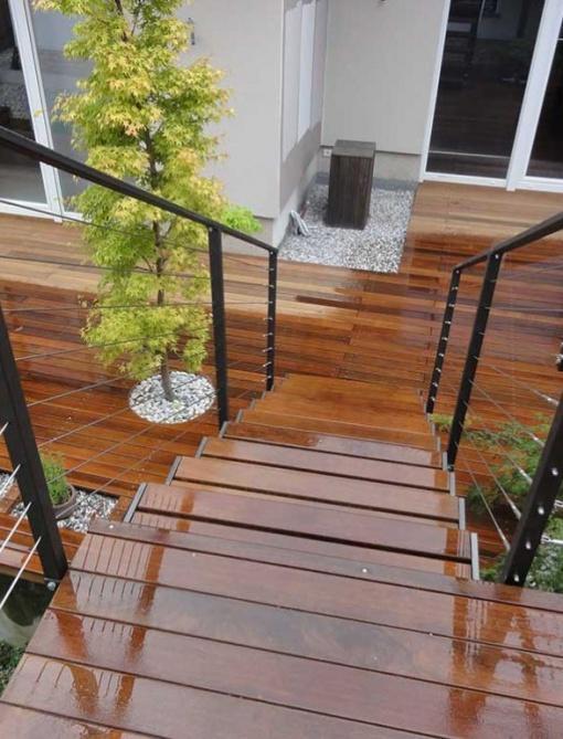 Zunanja lesena terasa ipe - Vogart les za terase