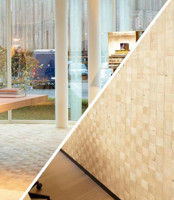 lesena stenska obloga hrast barn-design - Vogart lesene stenske obloge