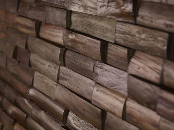 lesena stenska obloga teak Bourbon - Vogart lesene stenske obloge