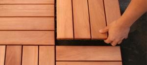 Panojsko polaganje lesene terase - zunanje talne obloge