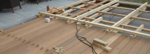 Podkonstrukcija za lesene terase