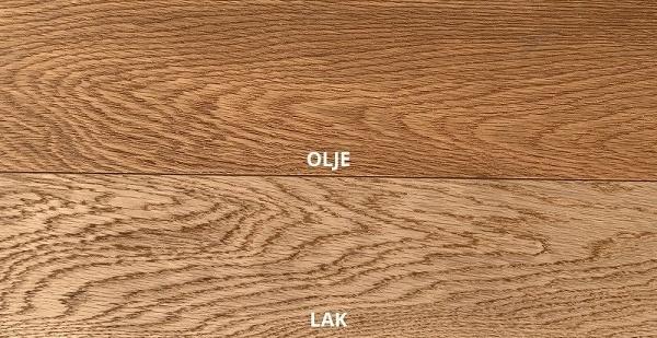 Oljen ali lakiran parket - primerjava